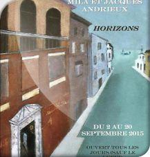 Exposition de peintures au Donjon Mila et Jacques Andrieux